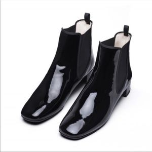 Frances Valentine Milly Patent Leather Booties